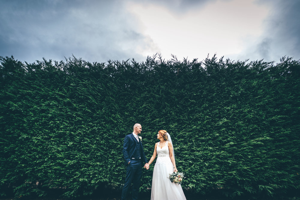 The couple at Winters Barns
