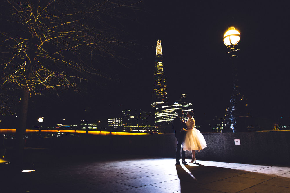 Dancing in front of the Shard