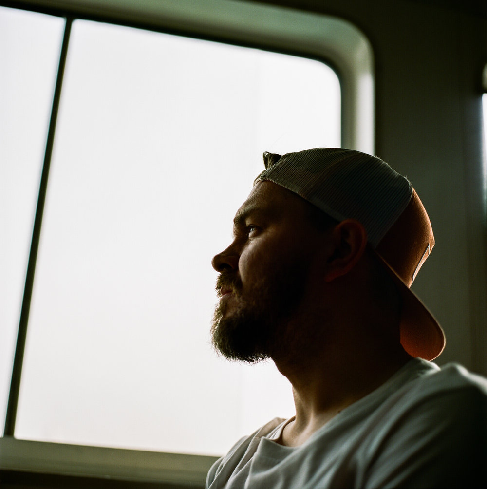 Not a massive fan of being photographed, but I love this one of me on the ferry back to central taken by Matt on his Hasselblad