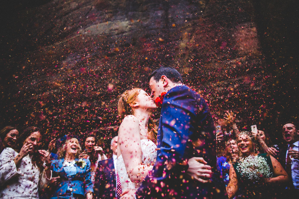 Confetti at a Kent Wedding
