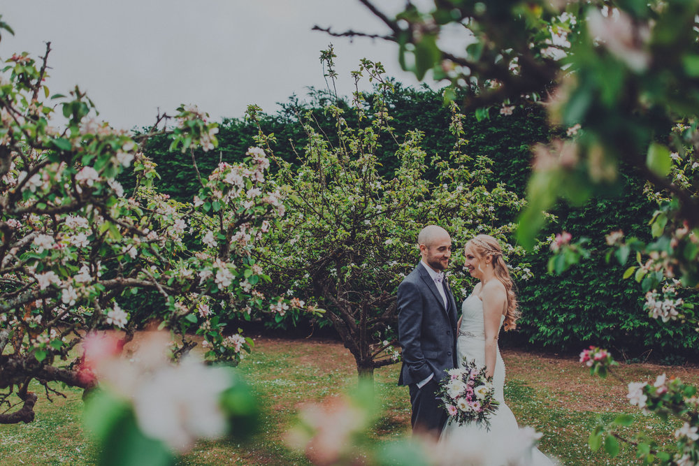 Bride and Groom in the blossom