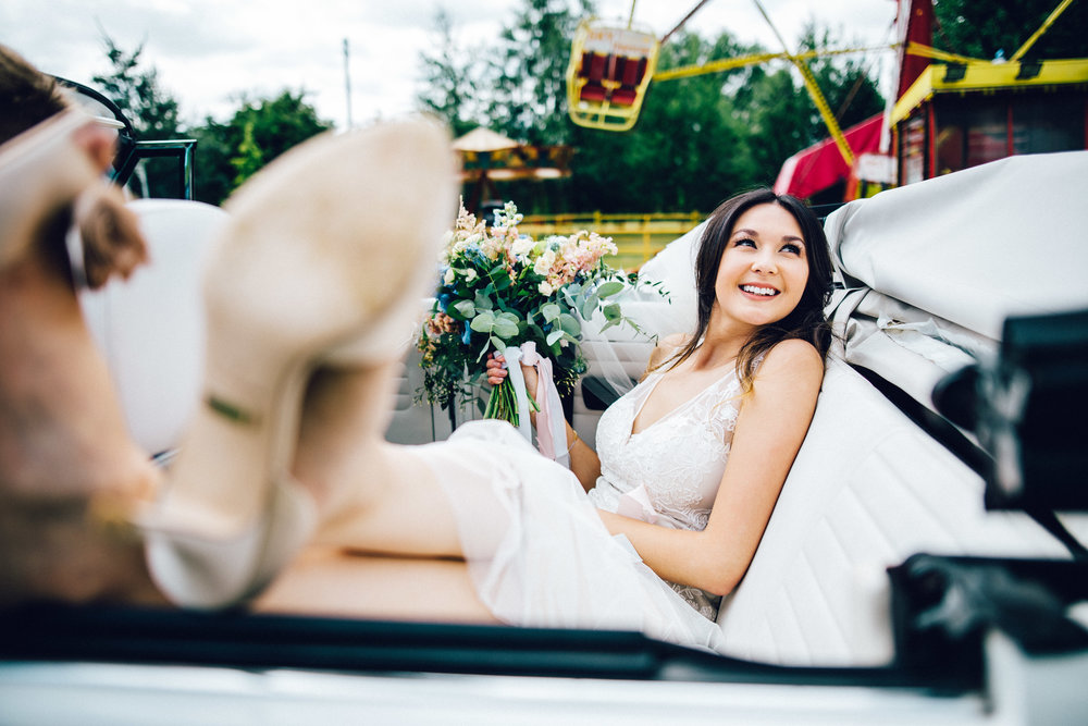 Chilled bride at Marleybrooks