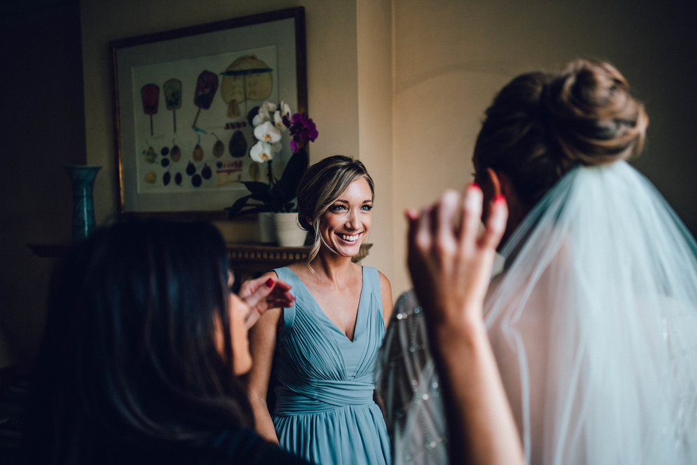 Smiling bridesmaid