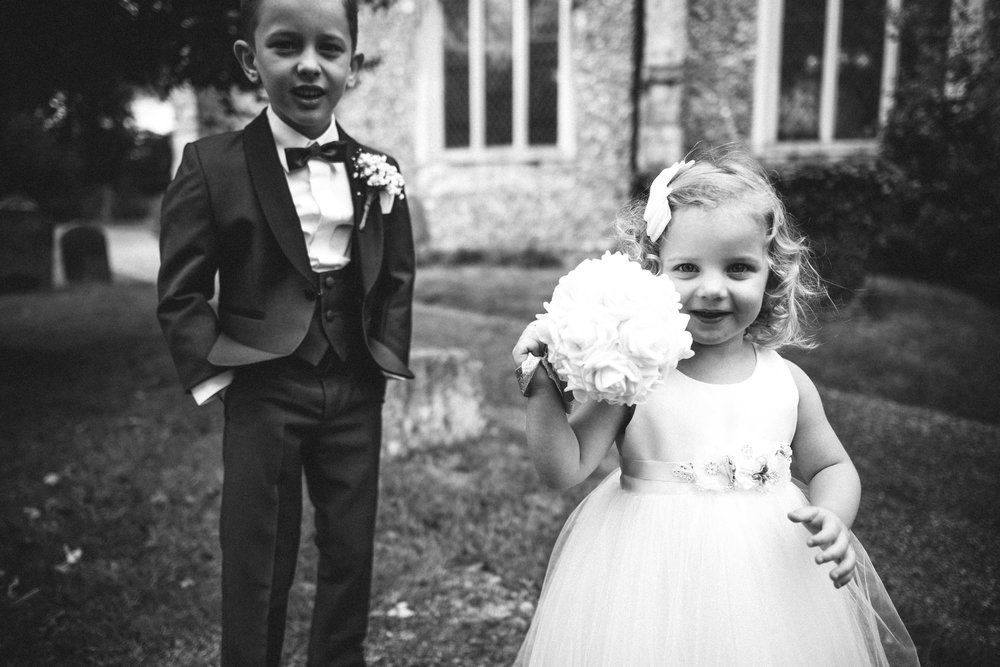 Pageboy and flower girl