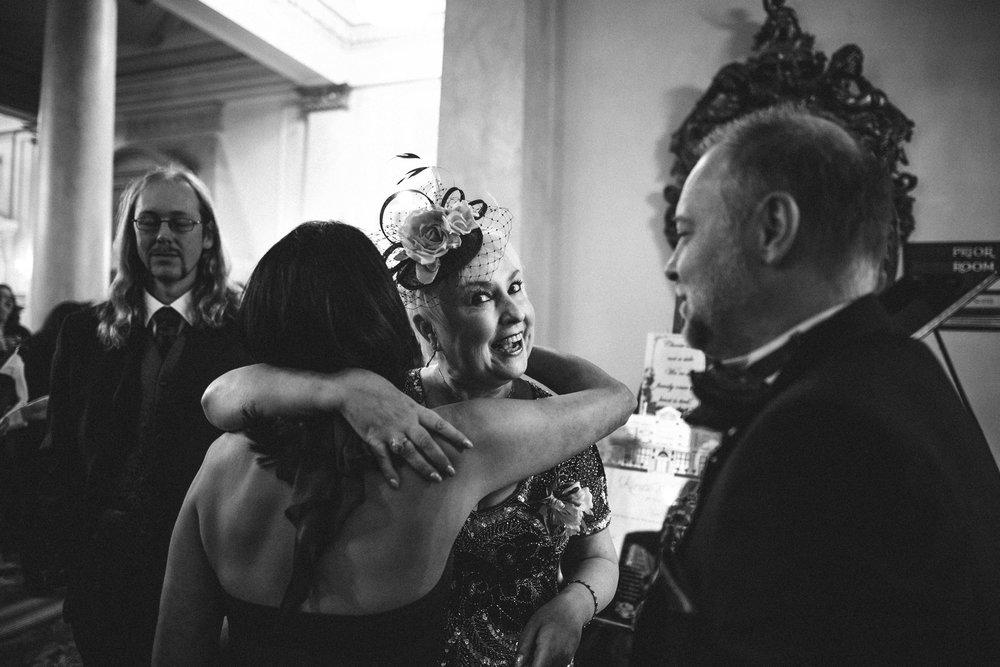 Happy mum at Down Hall Wedding