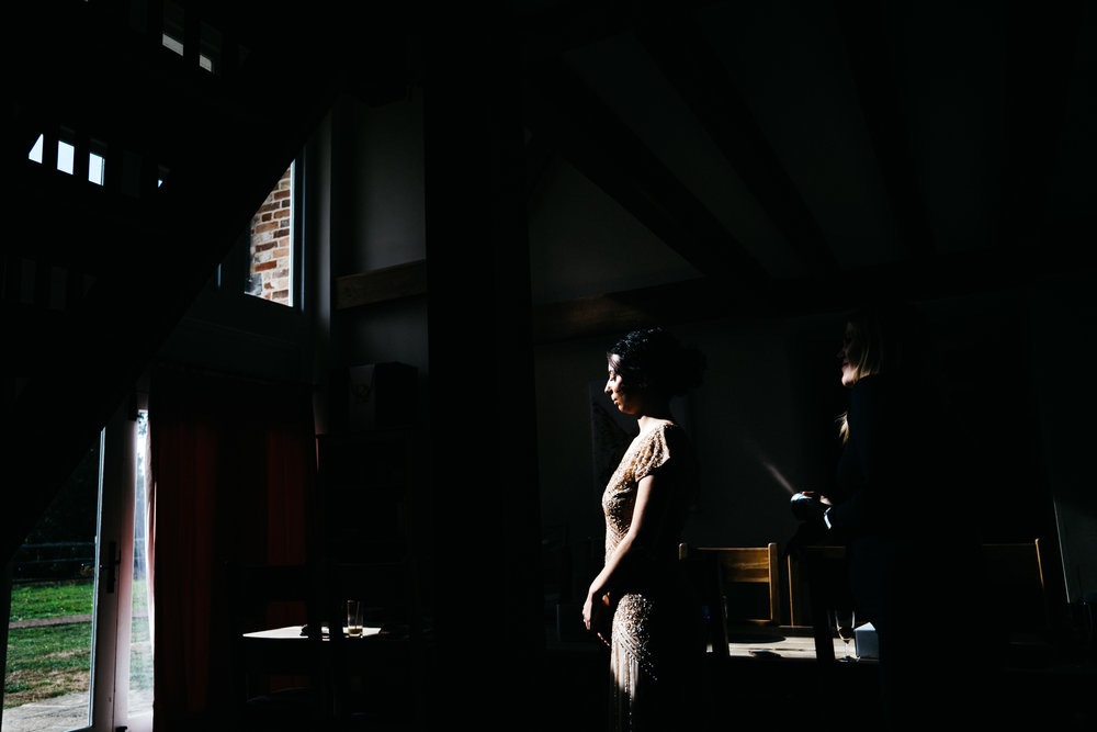 Bridesmaid in the light