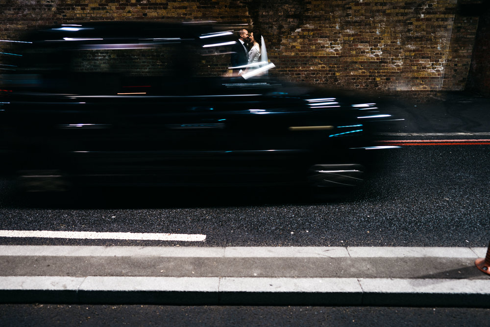London Taxi Wedding Photo