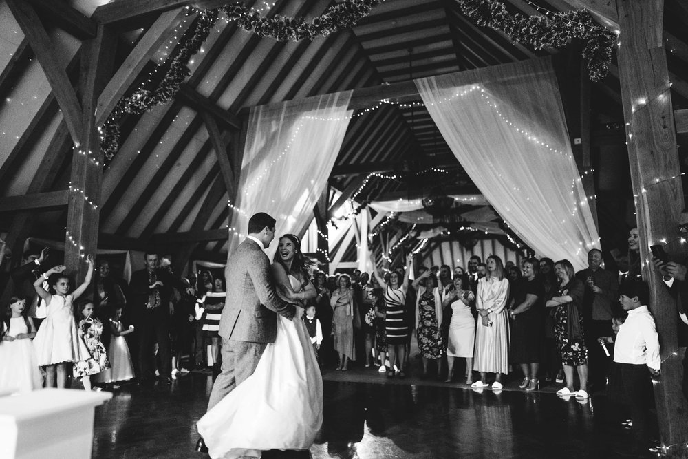 The first dance at the old kent barn