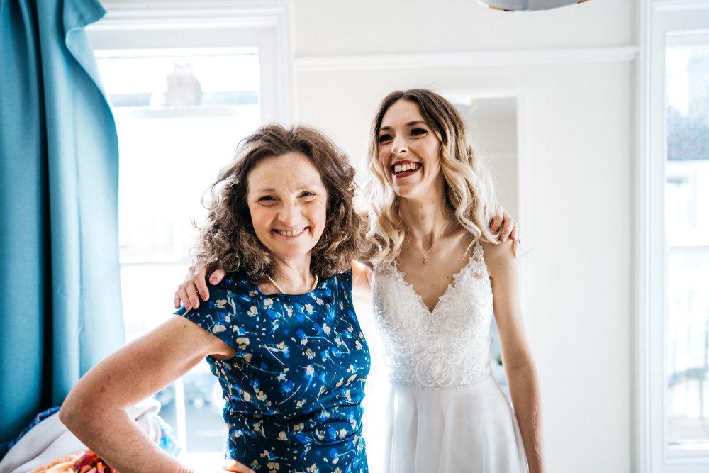 Bride and her mum