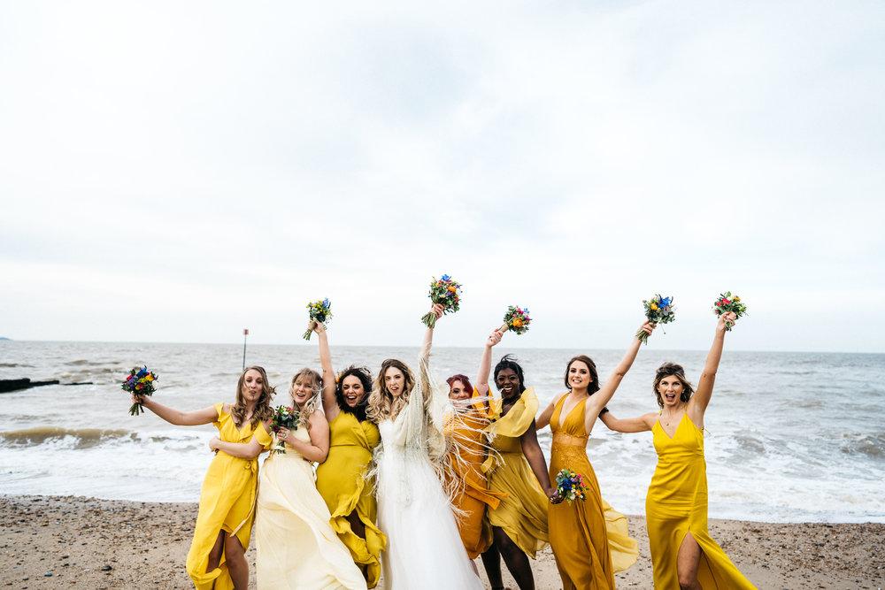 Bridesmaids at East Quay wedding venue