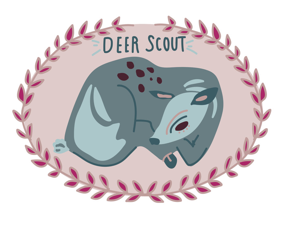 Deer Scout Logo (commissioned)  Created with Adobe Illustrator 2017