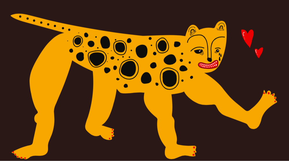 If Animals Had People Feet (Crazy Leopard)  Created Using Illustrator 2017
