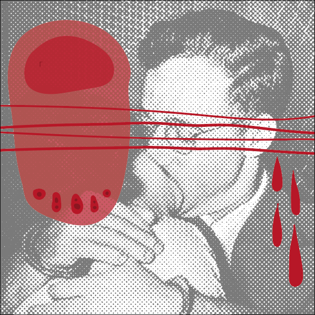 A Kiss- Tender and Full of Death (to be printed)  Created with Adobe Illustrator/Photoshop 2017