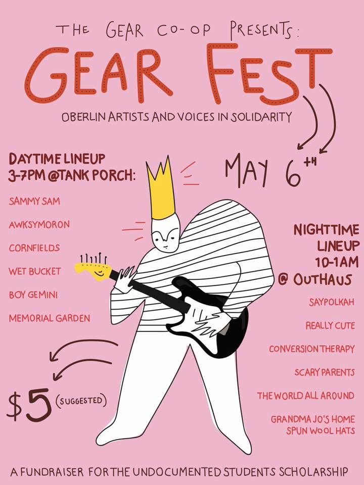 Event Poster for Oberlin Gear Co-Op (Commissioned)  Created Using Illustrator 2017