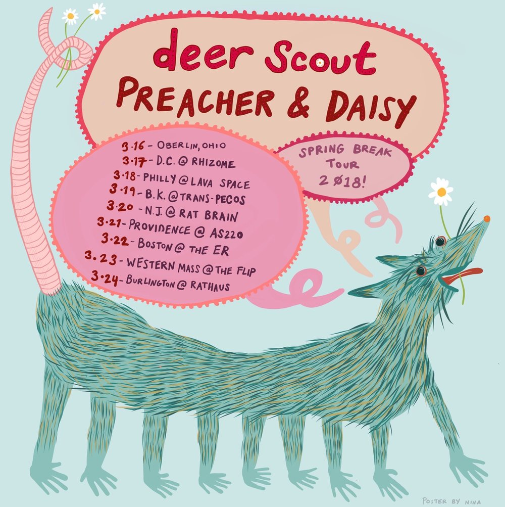 Preacher and Daisy/Deer Scout Tour Poster (2018)