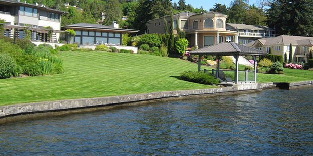 Turf grass has its place, but overuse neither filters runoff nor prevents shoreline erosion.