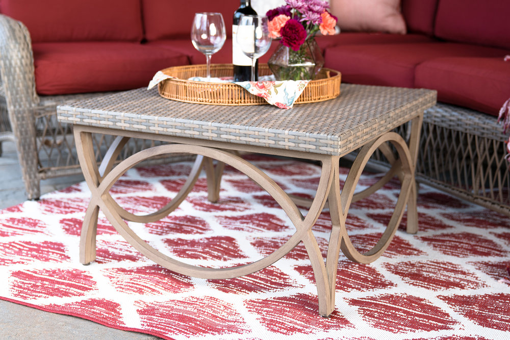 Birmingham Sectional Leisure Made Patio Furniture Red 3