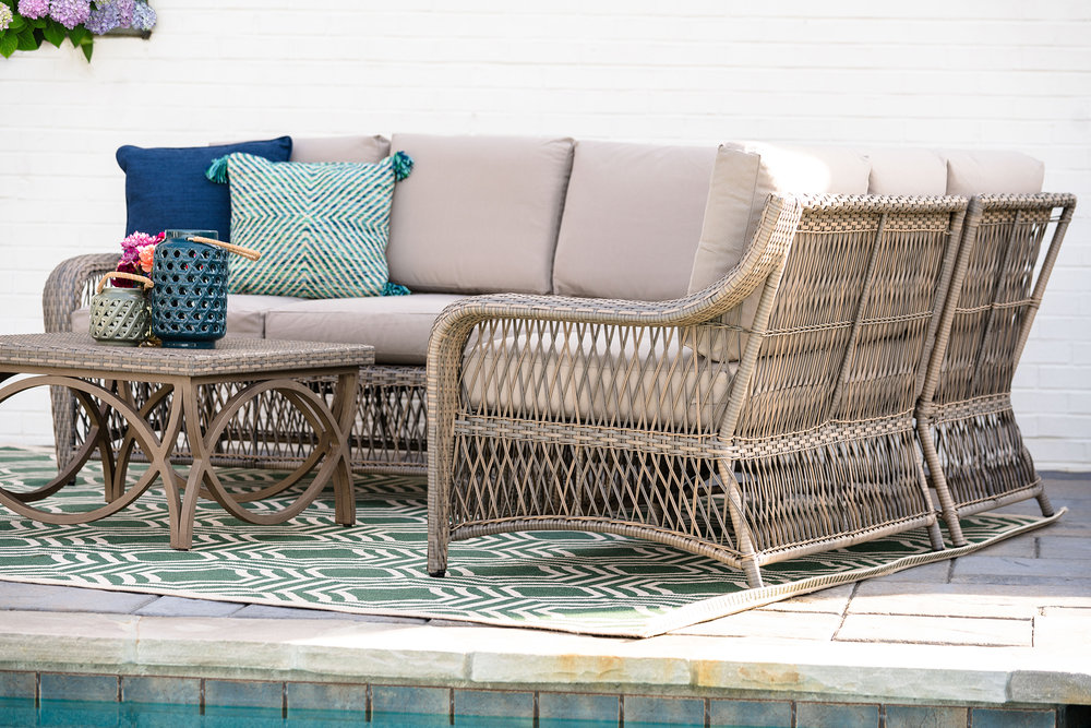 Birmingham Sectional Leisure Made Patio Furniture Tan 4