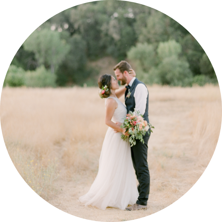Organic & Emotional Ranch Wedding - Heart stopping al fresco Californian elopement on the golden hills of Napa Valley