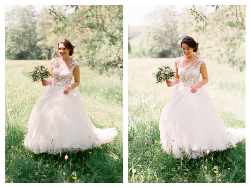 Das beste Licht jagen - Auf Englisch heisst es so schön: Light makes or breaks a photograph. Links war die Braut im harten seitlichen Licht (sie sieht wie eine Hexe aus!), rechts ist sie im diffusem Licht offenem Schatten und sie strahlt und sieht 10 Jahre jünger aus.