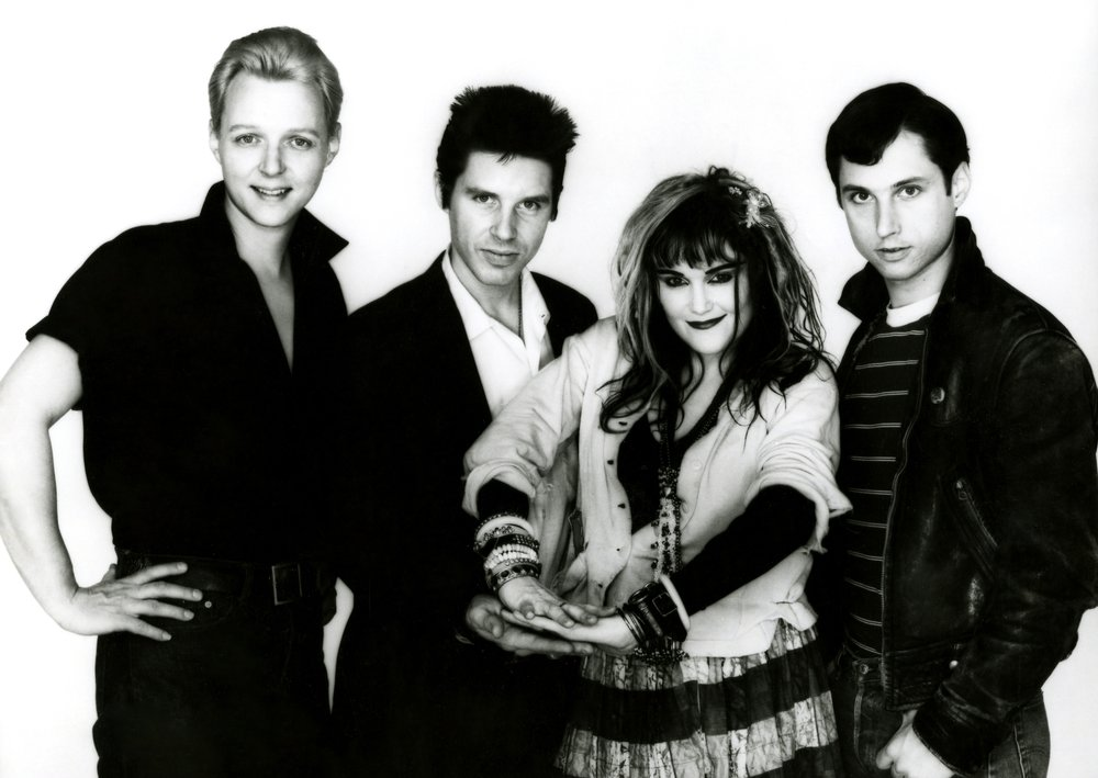 X | From left: Billy Zoom, John Doe, Exene Cervenka, D.J. Bonebrake | Photo credit to Frank Gargani