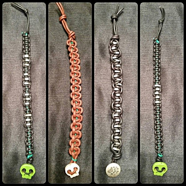 Here a few of the many bracelets Mills designs.