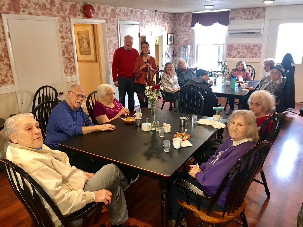 It has been wonderful getting to know these lovely residents at a local rest home I often perform for :-)