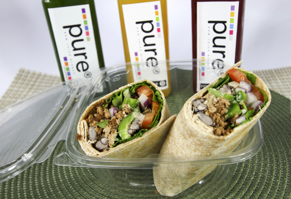 THE PERFECT PAIR   ORGANIC BURRITO + COLD PRESSED JUICE   $14