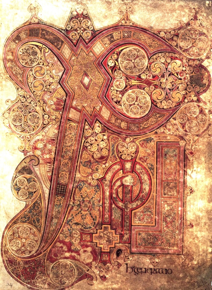 The Chi Rho of the Book of Kells