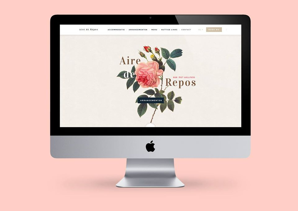 Webdesign for b&b Aire de Repos