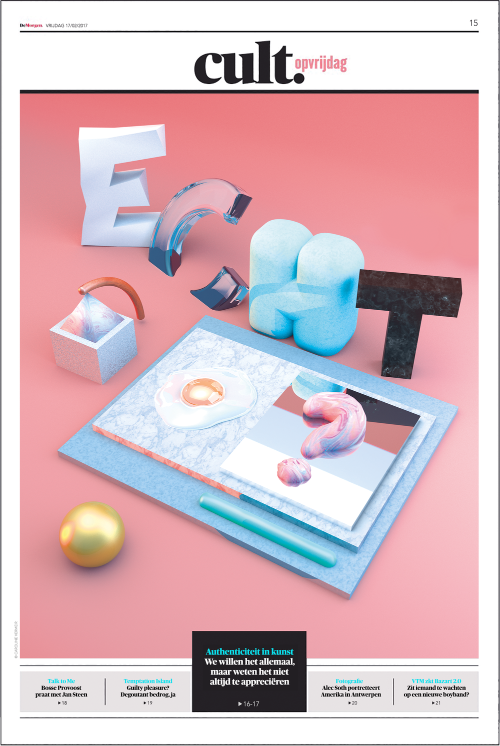 Cover for De Morgen Cult.opvrijdag | 2017