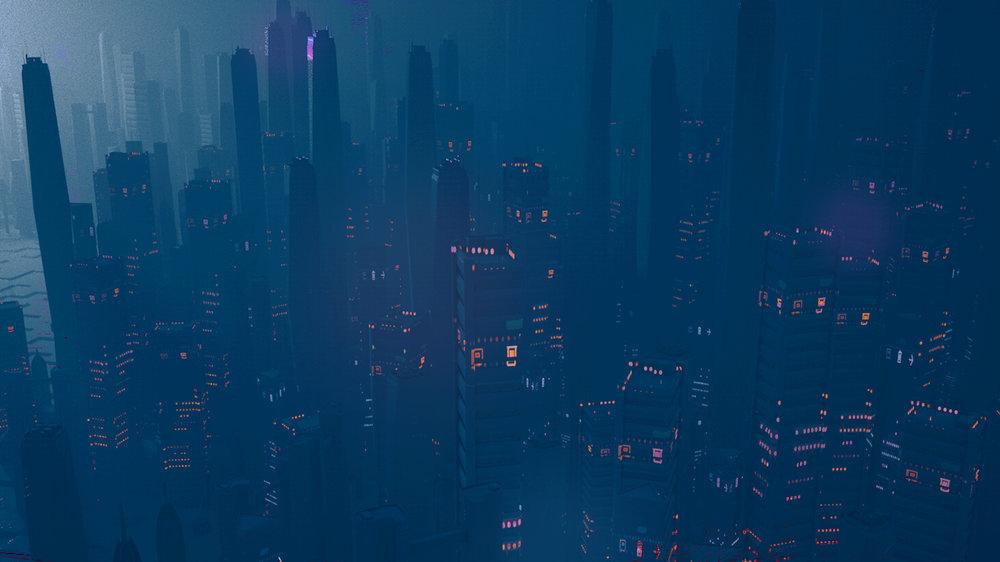 Blade Runner inspired city