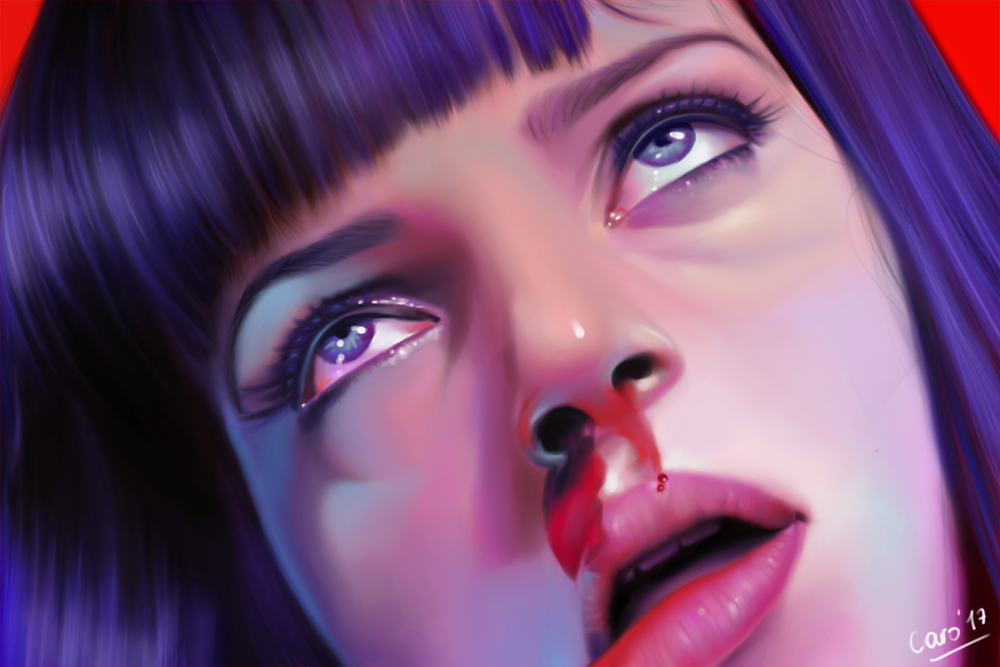 Mia Wallace from Pulp Fiction digital painting