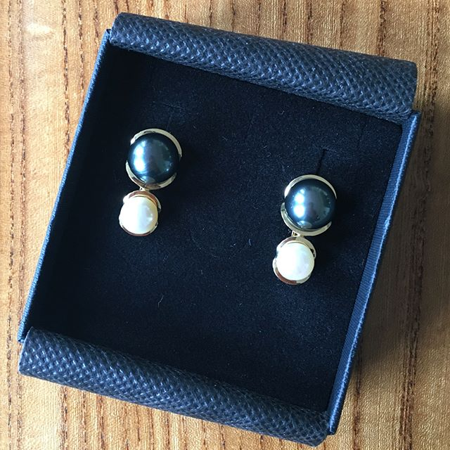 Done!! 😉  #newyorkcity  #jewelrydesigner  #handcrafted  #pearl  #earrings