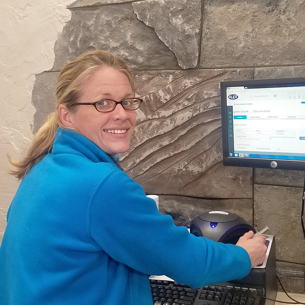 Kerith Roche   Kerith joined the family business full time in 2016 as our store manager.  She had been helping out for years and is excited about her new full time career.  She is eagerly learning our business from top to bottom including water chemistry training, helping build pools, maintain pools, repair pool equipment, and just about anything you can think of to gain a wealth of background knowledge to best serve our customers.  You can rest assured that if you have an issue and you come in the store to see Kerith, she will probably have first hand knowledge of your situation and can help resolve it for you!