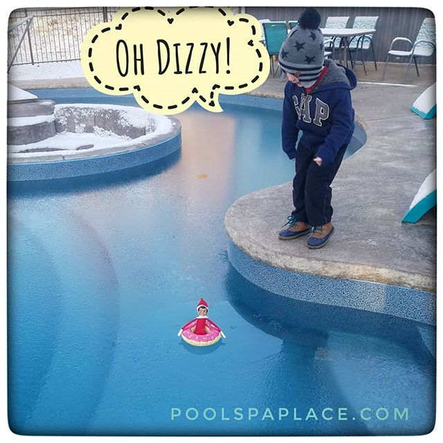 When you're a magic elf from the North Pole like our friend Dizzy, any day is a great day for a swim!  #elfontheshelf #christmasfun #pittsburghpools #pittsburgh #412 #custompools #pgh #itsthemostwonderfultimeoftheyear @glipoolproducts @pentairpool @cardinalsystemsinc