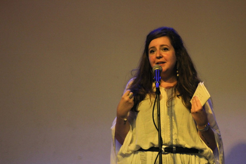 Luna Safwan at final live recording of The Byline. Taken August 2017 by Tamara Rasamny.