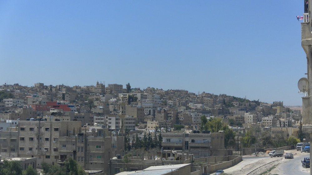The view from Mt. Ganobe of Raseefa, Al Zarqa, Jordan منظر من الجبل الجنوبي في الرصيفة, الزرقاء، الأردن