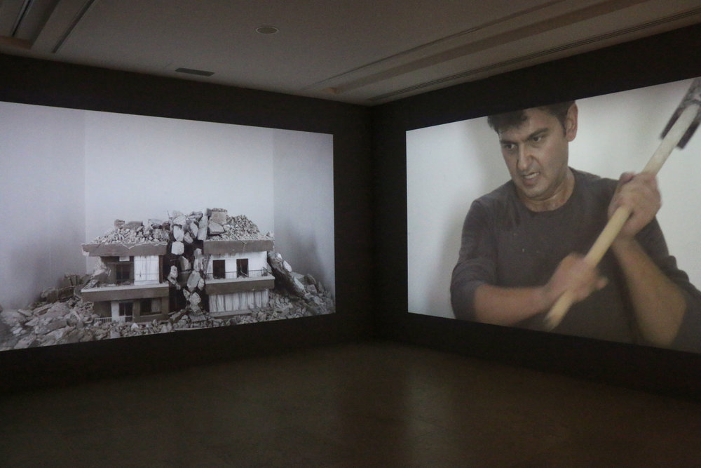 Hrair Sarkissian's  Homesick . Photo courtesy of Sursock Museum, Beirut, Lebanon.