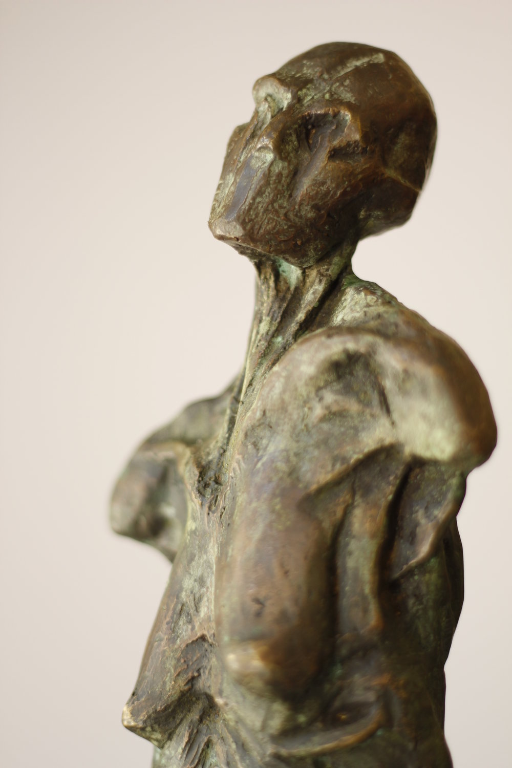 Untitled 2014, 80X20X10, Bronze statue by Mwafak Maklad (from Sweida born in 1988). Photo courtesy of ARA.