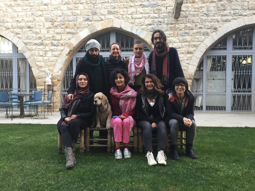 Three day interactive performance art workshop at Art Residence Aley (ARA with Marta Jovanovic December 2014. Photo courtesy of ARA.
