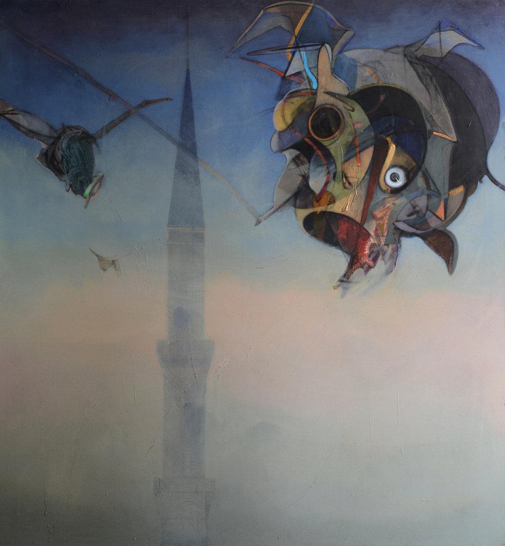 Sultanahmet. Acrylic on canvas, 160x170cm, 2014.