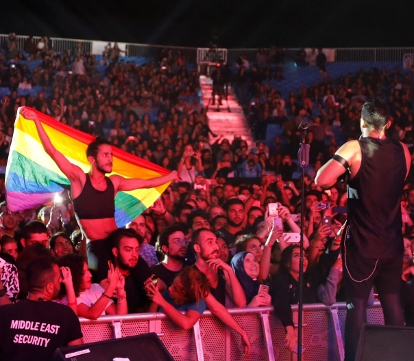 Mashrou Leila concert in Egypt, 22nd of September, 2017. Jamal Saidi/Reuters. PRI.