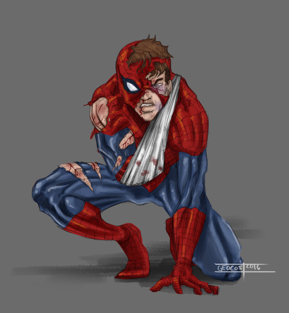 Wounded Spider-Man