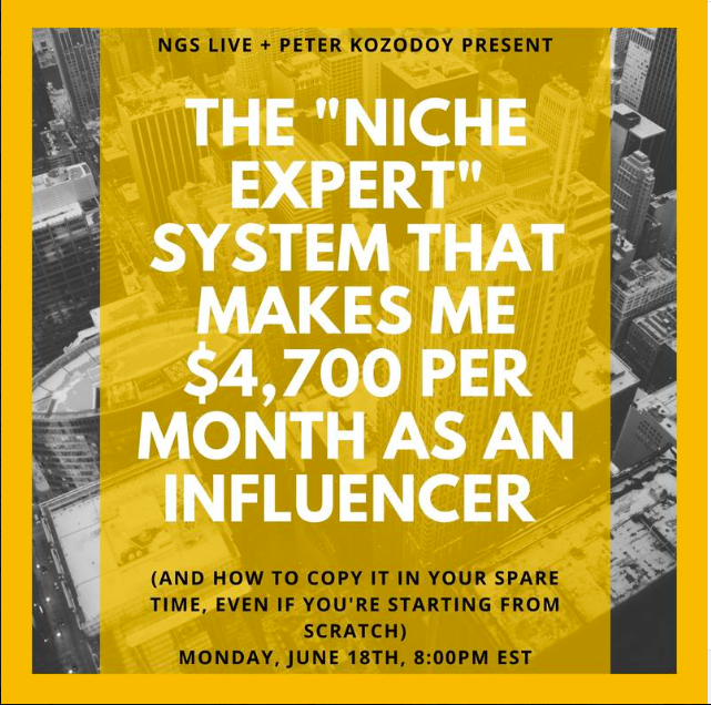 "The ""Niche Expert"" System That Makes Me $4,700 per Month As An Influencer  with Peter Kozodoy"