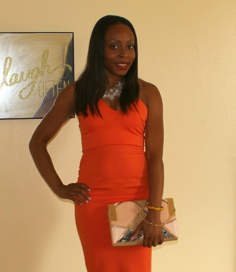 orange-pencil-dress-outfit