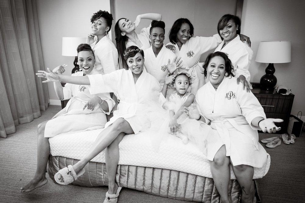 Bridesmaids and Bride robe black and white.jpg