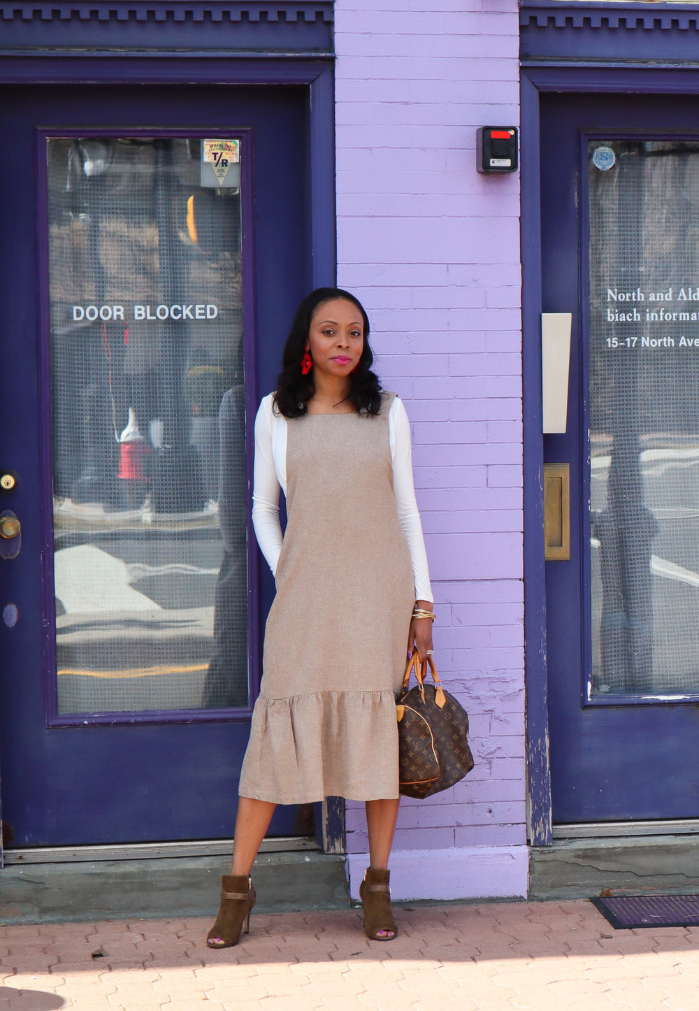 wool dress winter to spring transition
