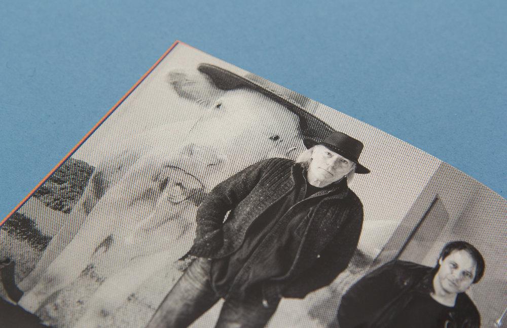 """Booklet von """"What´s up?"""" dem Album der Klaus Major Heuser Band. Gestaltung des Artworks von den sons of ipanema, einer Grafikdesign Agentur aus Köln."""
