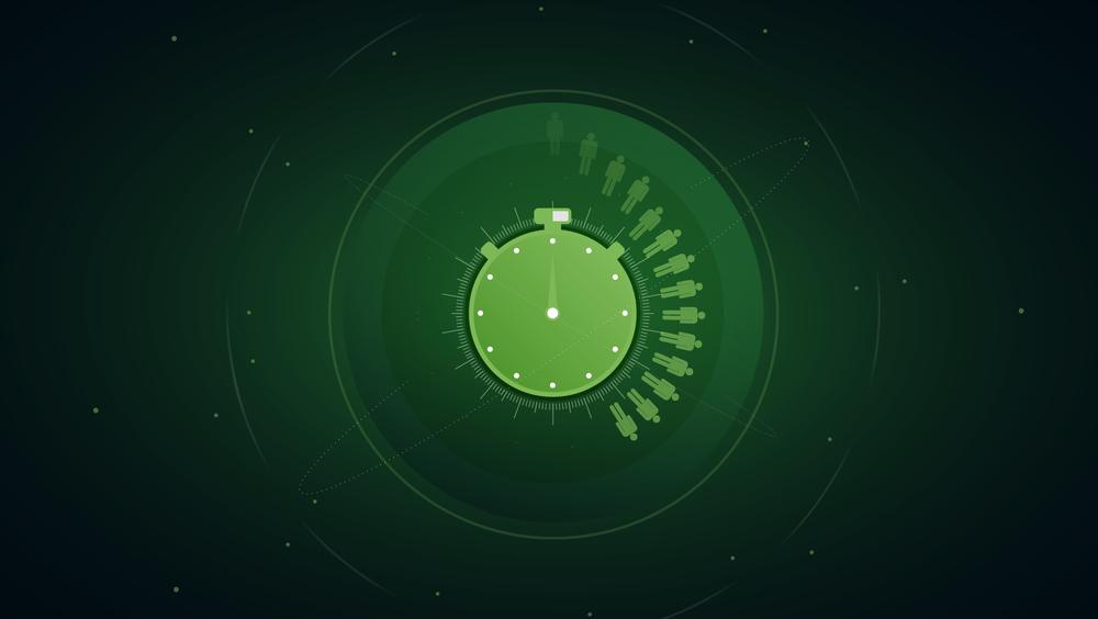 Illustration Zeit, Universum, Menschen für Lago4 von Comosoft. Gestaltung von den sons of ipanema einem Grafikdesign Studio aus Köln.